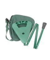 Canne à poignée siège pliante avec housse, en vert ou en noir